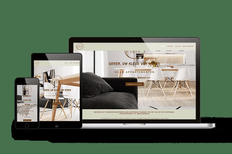 projectwebsite nieuwbouw portfolio mark-up