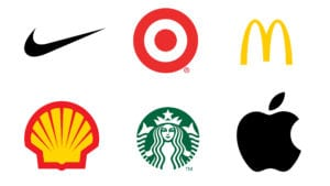 logo nike, macdonalds, shell, starbucks, apple
